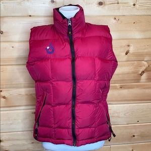 Isis Pink Puffer Goose Down Nylon Vest 8